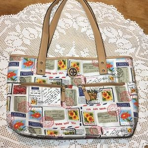 GIANI BERNINI BY AIR MAIL VINTAGE-INSPIRED TOTE
